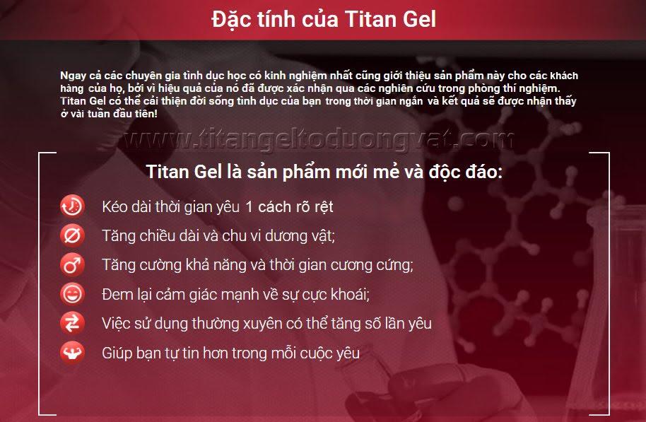Công dụng của Titan Gel Nga