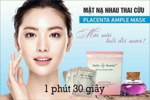 Review mặt nạ nhau thai cừu placenta ample mask có tốt không? giá bao nhiêu?