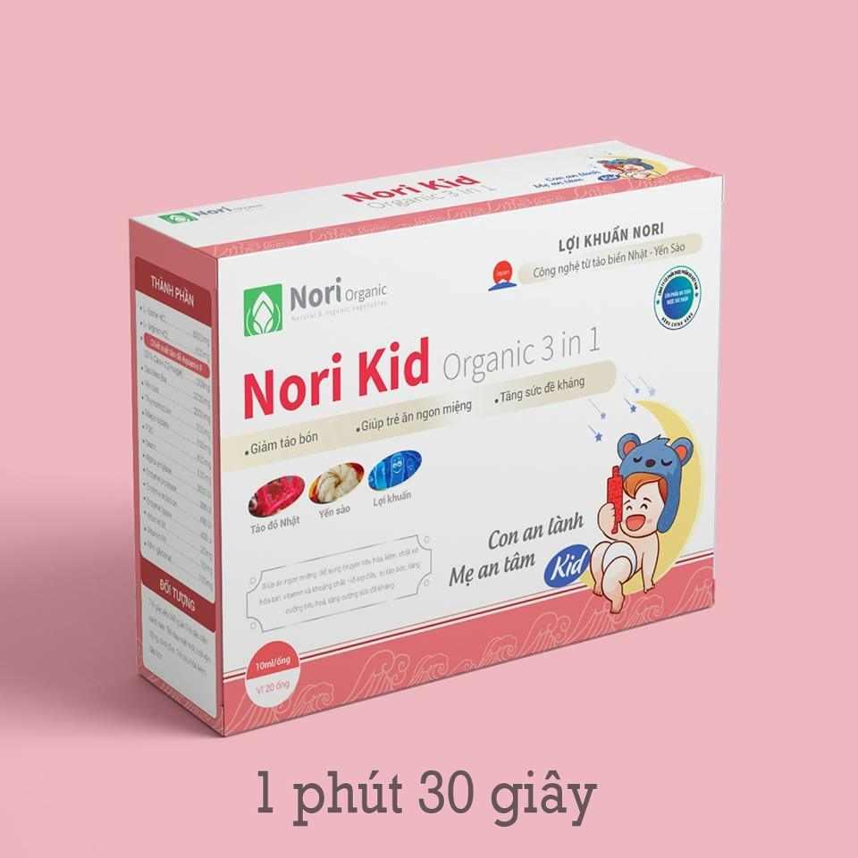 Hình ảnh bào tử lợi khuẩn Nori Kid ogranic 3 in 1