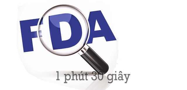 FDA giúp người tiêu dùng bảo vệ sức khỏe của mình
