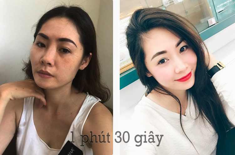 Hình ảnh Trước và Sau khi sử dụng bộ đôi chống lão hóa da G-Elise